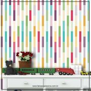 034 - Adesivo Decorativo de parede Listras colorido persona - 58cm larg