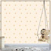035 - Adesivo Decorativo de parede Infantil bege ursinho - 58cm larg