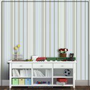 036 - Adesivo Decorativo de parede Listras esverdeado - 58cm larg