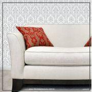 037 - Adesivo Decorativo de parede arabesco cinza - 58cm larg