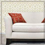038 - Adesivo Decorativo de parede arabesco dourado - 58cm larg