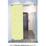 058 VD - Adesivo Jateado para vidro Folhas Cartoon  220x70cm