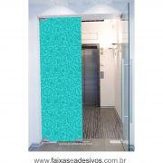 059 VD - Adesivo Jateado para vidro Flores Cartoons  220x70cm