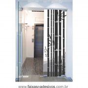 062 VD - Adesivo Jateado para vidro Bambuzal  220x70cm