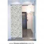 069 VD - Adesivo Jateado para vidro Floralzinho  210x70cm