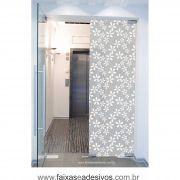 071 VD - Adesivo Jateado para vidro Flor Laranjeira  210x70cm