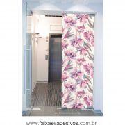 072 VD - Adesivo Jateado para vidro Flor em aquarela  210x70cm