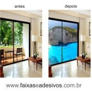 300 - Adesivos para Porta de vidro decorada com foto