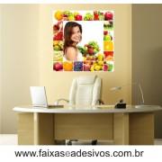 Adesivo Nutrição Frutas e Cor