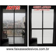 106 - Adesivo Jateado para porta Balcão - liso - Kit 4 peças