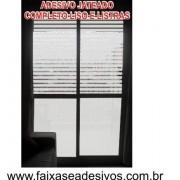 105 - Adesivo jateado para porta balcão - Kit 4 peças