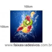 Placa Decorativa de Frutas Splash cor 1,00 x 1,00m