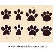 Adesivo Páscoa Patinhas de Coelho 7cm ´30 peças´