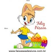 Coelha Feliz adesivo decorativo temático