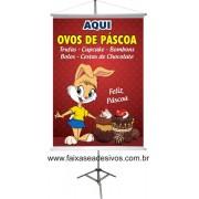 Banner Ovos de Páscoa Aqui 0,80 x 0,60m