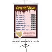 Banner de Páscoa Tabela de Preços 1,00 x 0,70m
