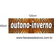 Adesivo de Vitrine Pele de Tigre 1,20 x 0,40m