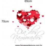 Adesivo Corações CDN01 Dia Dos Namorados  65 x 70cm