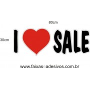 Adesivo I Love Sale 80 x 30cm