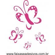 Borboletas Lindas Jogo com 4 peças - Adesivo