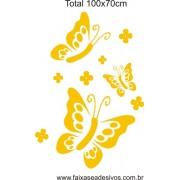 Borboletas e Flores 1,00 x 0,70m adesivo