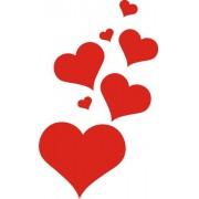 Adesivo Cartela Coração - N012