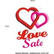 Adesivo Love Sale Corações 60 x 40cm