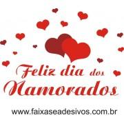 Adesivo Dia dos Namorados Corações de Amor