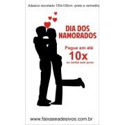 Adesivo Namorados Silhueta 1,50 x 1,00m
