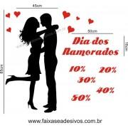 Adesivo Casal Namorados 1,00 x 1,00m