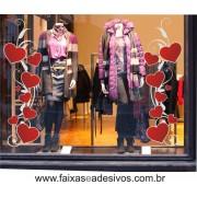 Adesivo Arabesco Coração Love 1 peça 1,20 x 0,40m