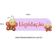 Adesivo Boton Kids Borboletinha 1,20 x 0,40m