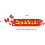 Adesivo Boton Liquidação Borboletas 1,20 x 0,30m