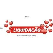 Adesivo Boton Liquidação Corações 1,50 x 0,50m