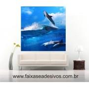Painel Decorativo Golfinho 1,00 x 1,00m
