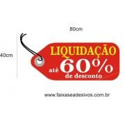 Adesivo Tag RED Liquidação 80 x 40cm