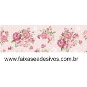 Faixa Adesiva de parede Rosas Classic 20cm altura