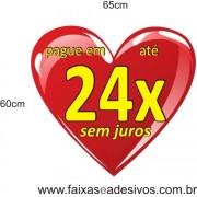 Adesivo Coração 24 vezes sem juros* 65 x 60cm
