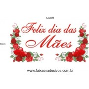 Adesivo Dia das Mães Ramos de Rosas 1,20 x 0,60m