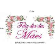 Adesivo Dias das Mães Ramo de Rosas cor de Rosa 1,20 x 0,60m