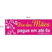 Adesivo Dia das Mães Tarja Arabesco 1,20 x 0,40m