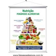 Pirâmide Alimentar Banner Nutrição 100x90cm - 4451