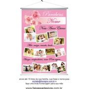 Homenagem para as mães Banner com foto 100x70cm