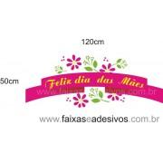 Adesivo decorativo fita com flores 120x50cm