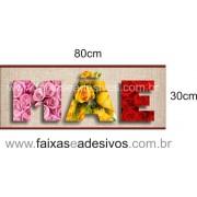 Adesivo Mãe textura de Flores 80x30cm