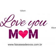 Adesivo Love You M?M 1,20 x 0,65m