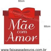 Adesivo Dia Das Mães com Amor 60 x 60cm
