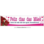 Faixa Mãe Rosas Vermelhas 3,00 x 0,70m