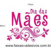 Adesivo Dia das Mães Arabesco Pink 1,10 x 0,85m