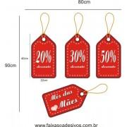 Adesivo Dia Das Mães TAG Promocional 80 x 90cm